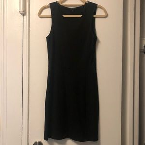 Theory Fitted Black Jersey Tank Dress S